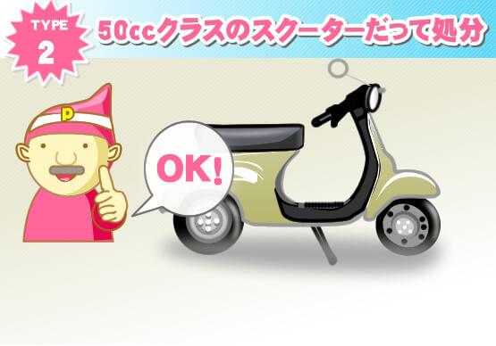 50ccクラスのスクーターだって処分